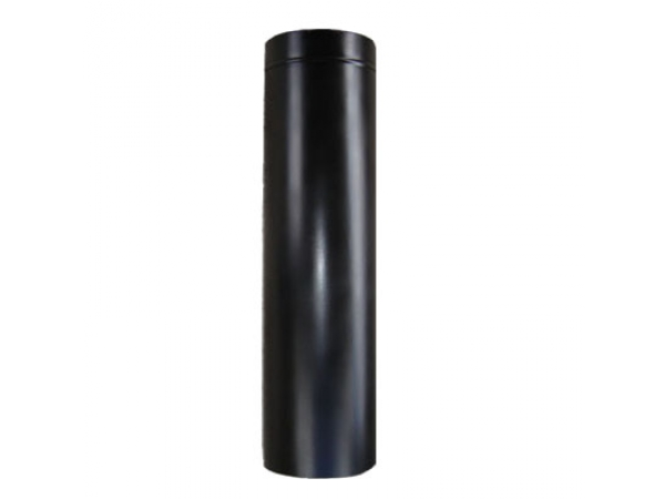 Tubo rigido d125 inox preto
