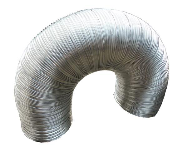 Tubo flexivel duplo d200 inox 304