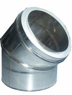 Curva 45º d100 inox isolado