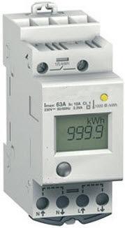 CONTADOR ENERGIA ELECTRICO M 230V 5 (45) 1 AMP 1 MODULO