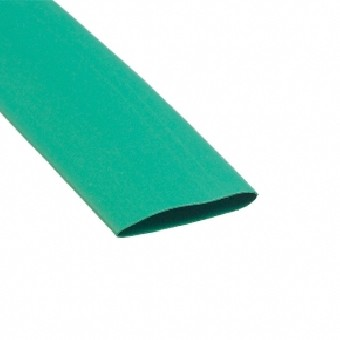 Tubo termoretratil 12,7x6,4 verde amarela