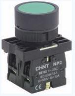 Botao verde 230v ca  6 amperes 2no+1nc
