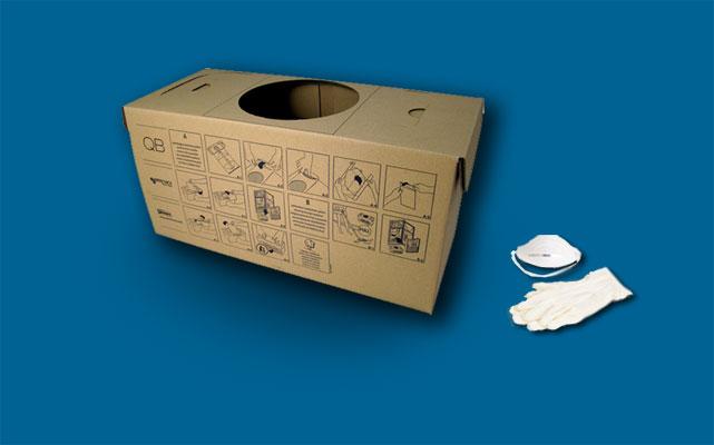 Cm814q caixa recipiente pó/central qb