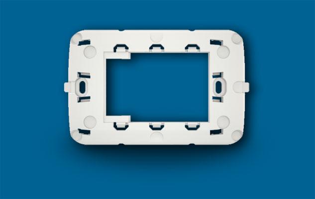 Na693  suporte adaptador p/ placa vimar brc