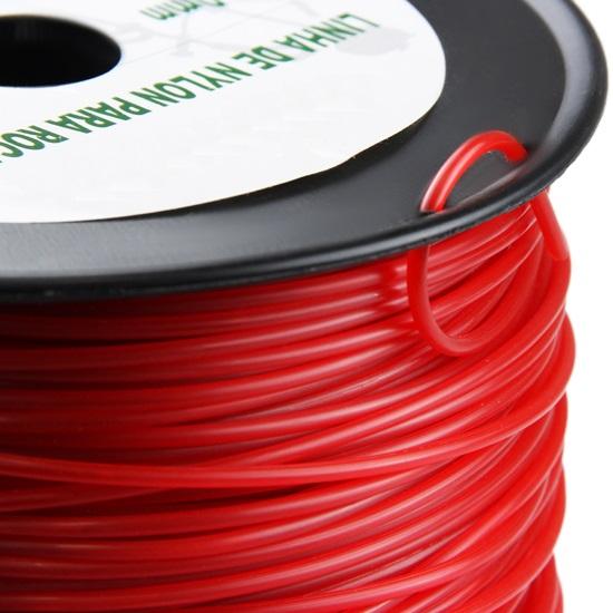 Fio nylon red.3mm 56m p/roçadora