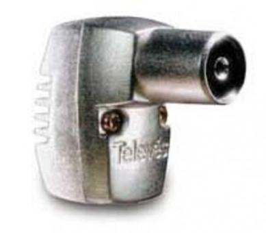 Conector iec 9.52 mm femea curva 90º