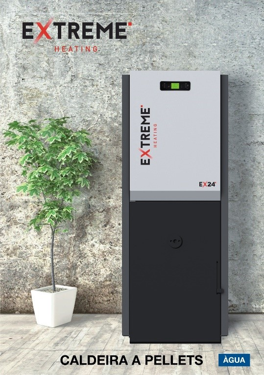 Caldeira pellets extreme eco 24 kw