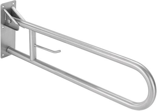 Barra apoio rebativel com porta rolo