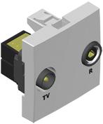 Tomada r-tv passagem - 2 modulos 45564 sbr