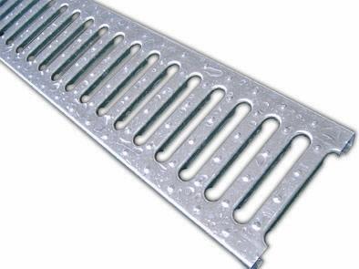 Grelha estampada zincada galvanizada (1000x200x25)
