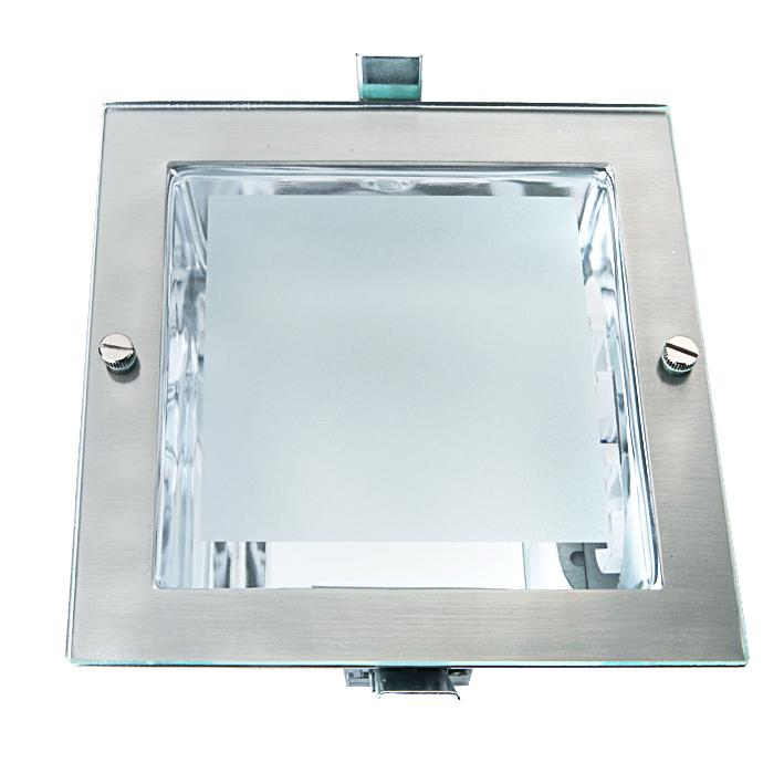 Downlight quadrado 23cm branco 2xe27