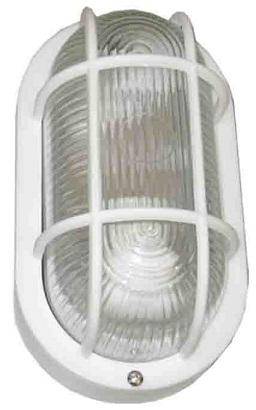 Olho de boi plasttico e27 60w 230v branco
