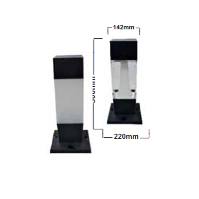 Balizador quad.zeza-500-sq cz. 4xgu10 12w 6000k regina