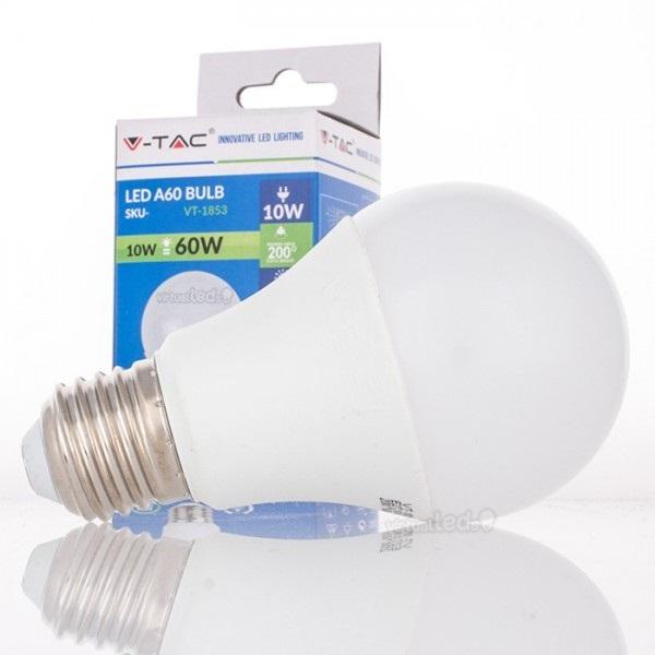 Lamp led a60 e27 10w 3000k 806lm 4209