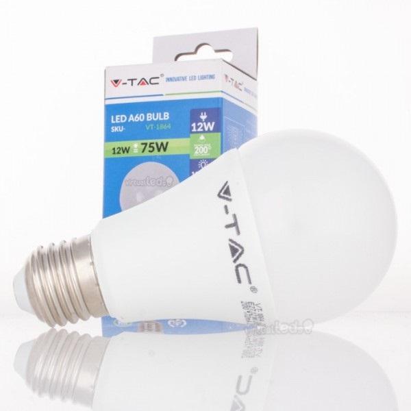 Lamp led a60 e27 12w 6000k 1055lm 4230