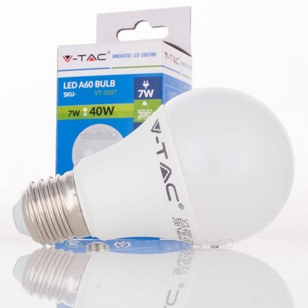 Lamp led a60 e27 7w 4500k 470lm 4377