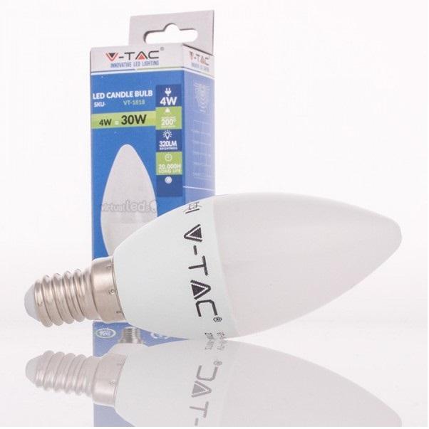 Lampada vela led e14 4w 4500k 320lm 4166