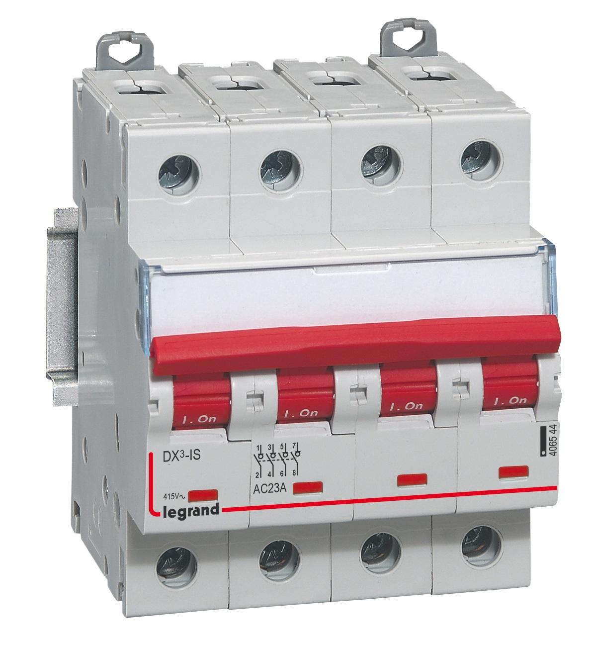 Interruptor seccionador dx3 4p 100a 406546