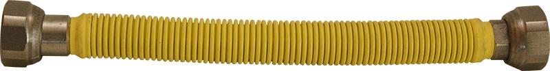 """Ligacao flexivel inox gas ff 1/2x3/4"""" 50 ext. amarelo"""