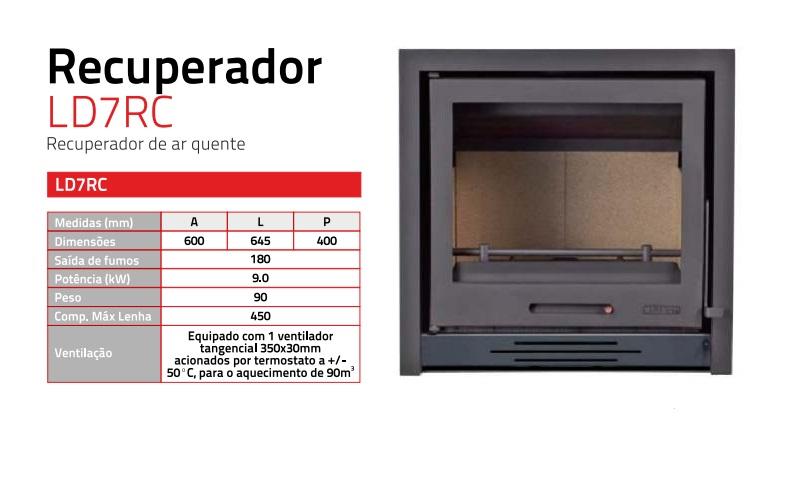 Recuperador calor a ar ld7rc