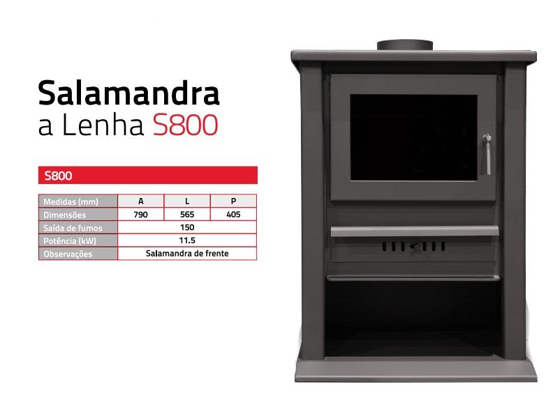 Salamandra a lenha s800