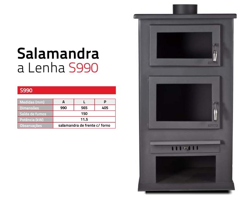 Salamandra lenha s990
