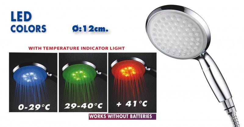 Chuveiro com indicador luminoso temperatura cr 08690014