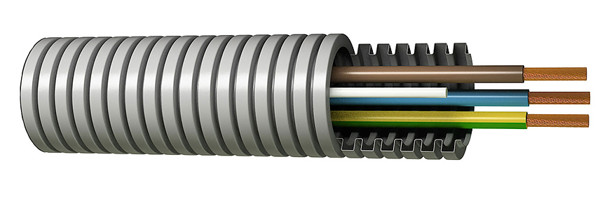 Tubo pre cablado 20-4tx1,5
